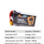 Auline 6S EX 1350mah 120C