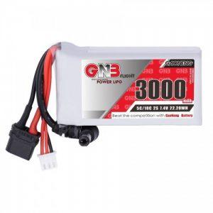 GNB 3000MAH 2S 5C XT60 Goggles Lipo Battery w/ Power Indicator