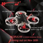 Happymodel Mobula6 65mm Crazybee F4 Lite 1S Whoop FPV Racing Drone BNF w/ Runcam Nano 3 Camera – FrSky Receiver